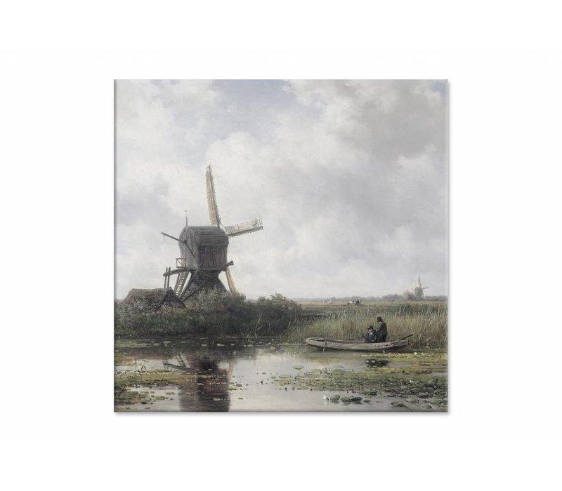 In het Gein bij Abcoude • vierkante afdruk op canvas
