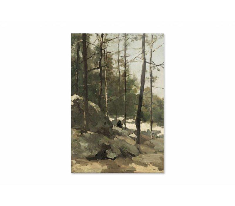 Bosgezicht nabij Barbizon • staande afdruk op plexiglas