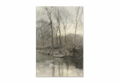 Bosrand aan het water • staande afdruk op plexiglas