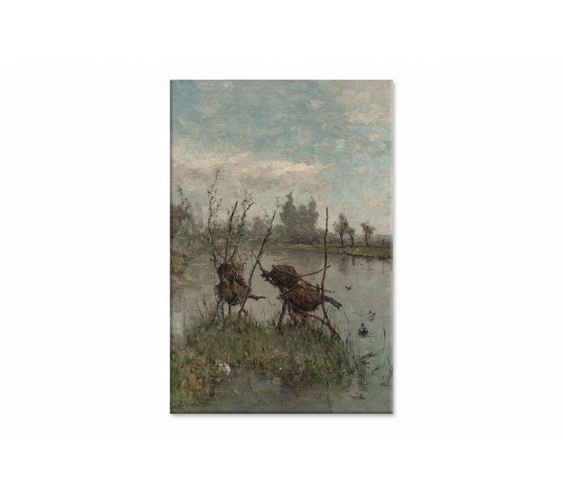 Eendennesten • staande afdruk op canvas