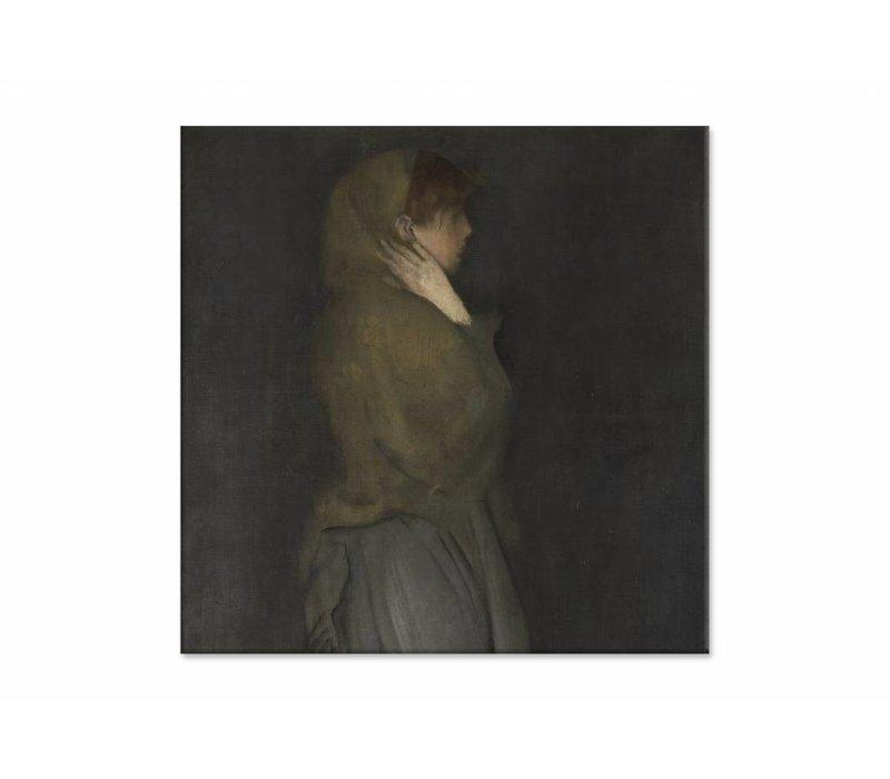 Arrangement in yellow and gray Effie deans • vierkante afdruk op canvas