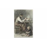 De schoenmaker • staande afdruk op canvas