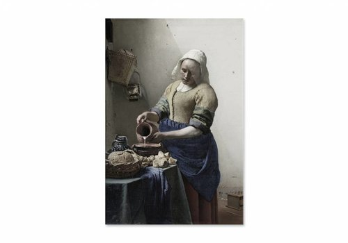Het melkmeisje • staande afdruk op plexiglas