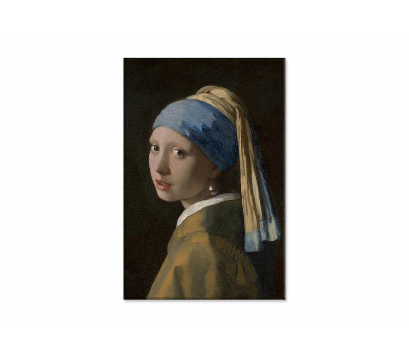 Meisje met de parel • staande afdruk op canvas