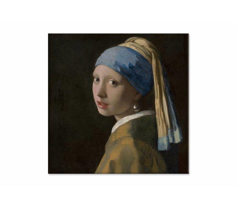 Meisje met de parel • vierkante afdruk op canvas