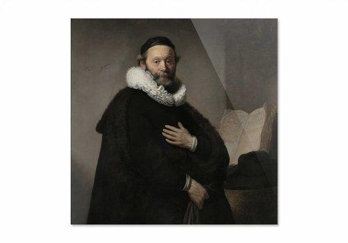 Portret van Johannes Wtenbogaert • vierkante afdruk op plexiglas