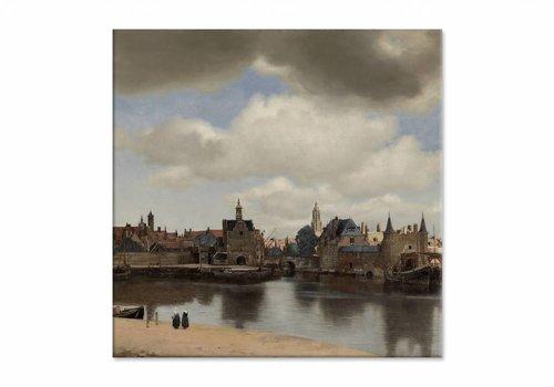 Gezicht op Delft • vierkante afdruk op canvas