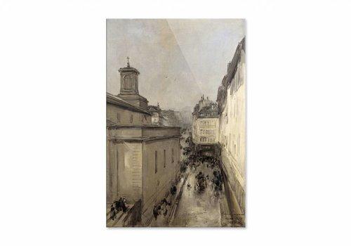 Gezicht op de Notre Dame • staande afdruk op plexiglas