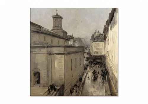 Gezicht op de Notre Dame • vierkante afdruk op canvas