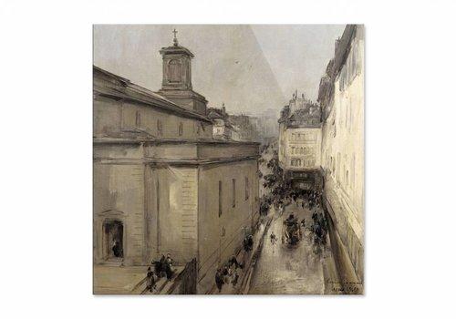 Gezicht op de Notre Dame • vierkante afdruk op plexiglas