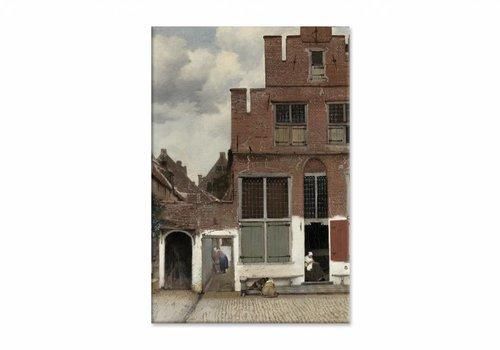 Straatje • staande afdruk op canvas