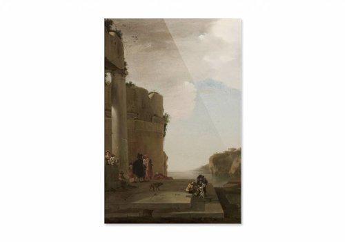 Italianiserend landschap • staande afdruk op plexiglas