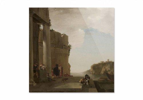 Italianiserend landschap • vierkante afdruk op plexiglas