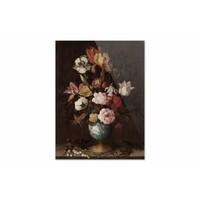 Bloemen in een Wan Li vaas • staande afdruk op plexiglas