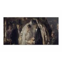 Joodse bruiloft • liggende afdruk op plexiglas