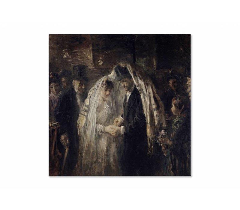 Joodse bruiloft • vierkante afdruk op canvas