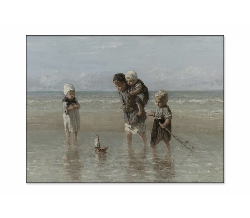 Kinderen der zee • liggende afdruk op textiel