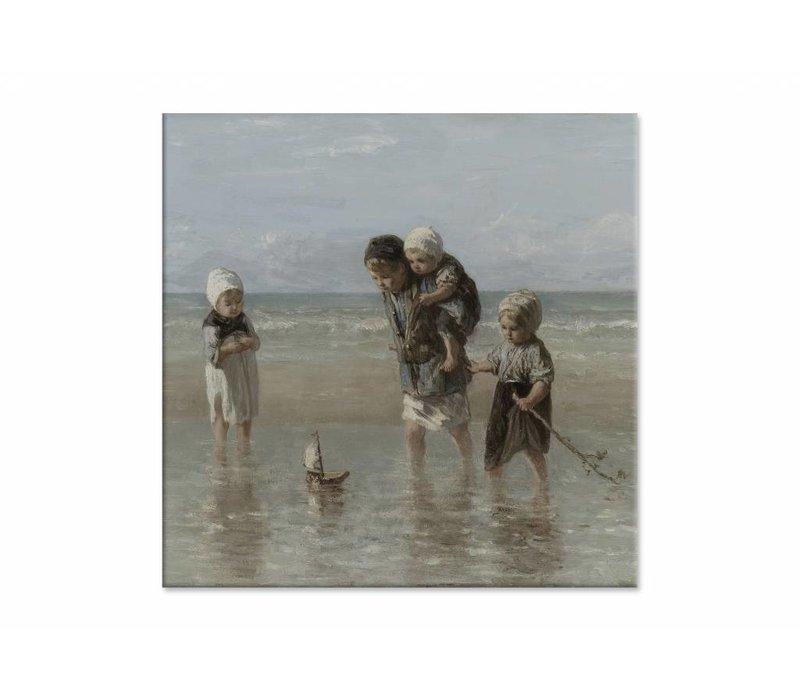 Kinderen der zee • vierkante afdruk op canvas