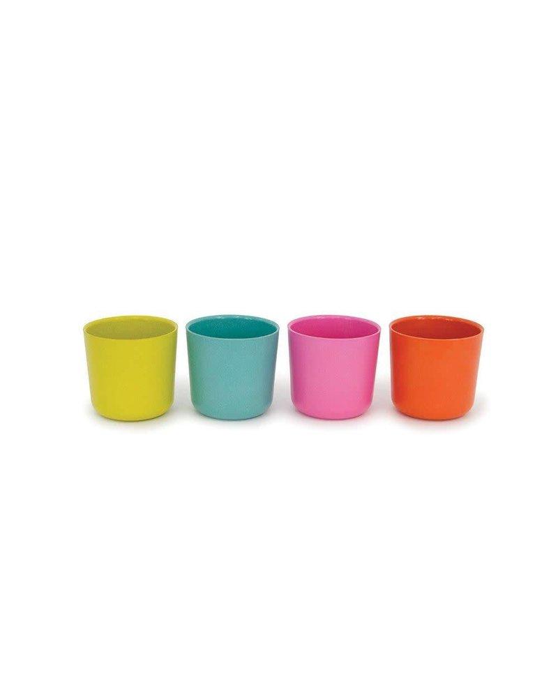 Biobu Bambino Cup Set 1 - rose, lagoon, lime, mandarin