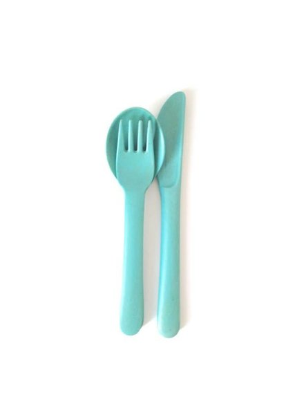 Biobu Bambino Trio Cutlery Set lagoon (fork,spoon, knife)