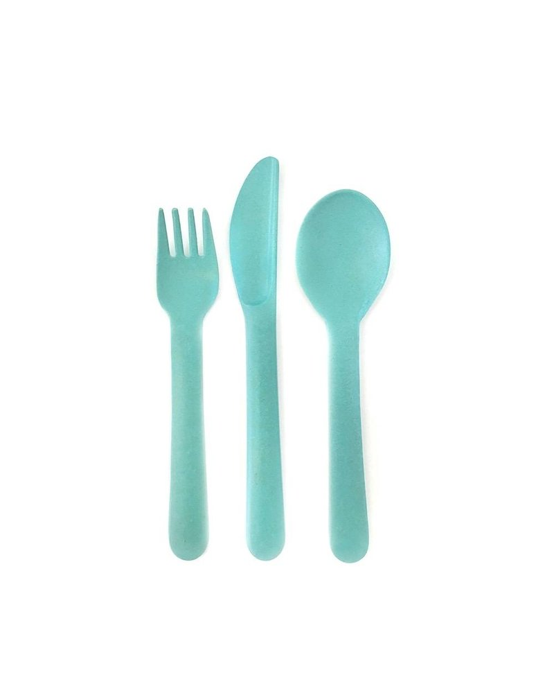 Biobu Bambino Trio Cutlery Set white (fork,spoon, knife)