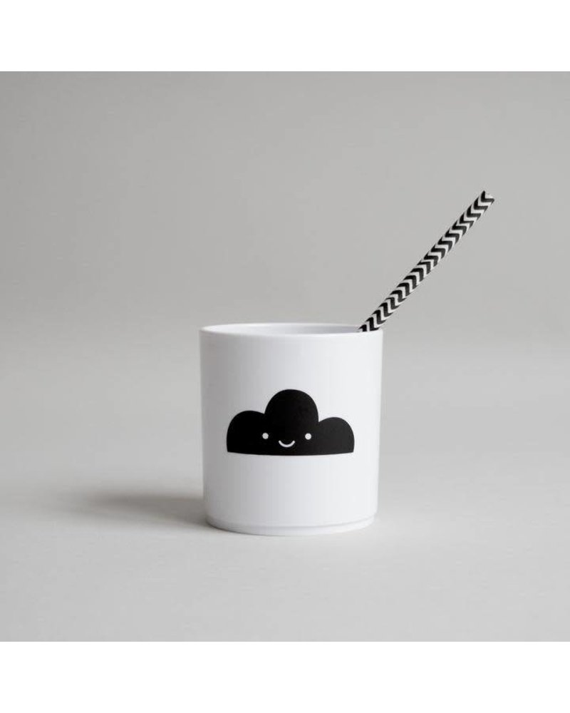 Buddy and Bear Happy Cloud Tumbler - White Edition