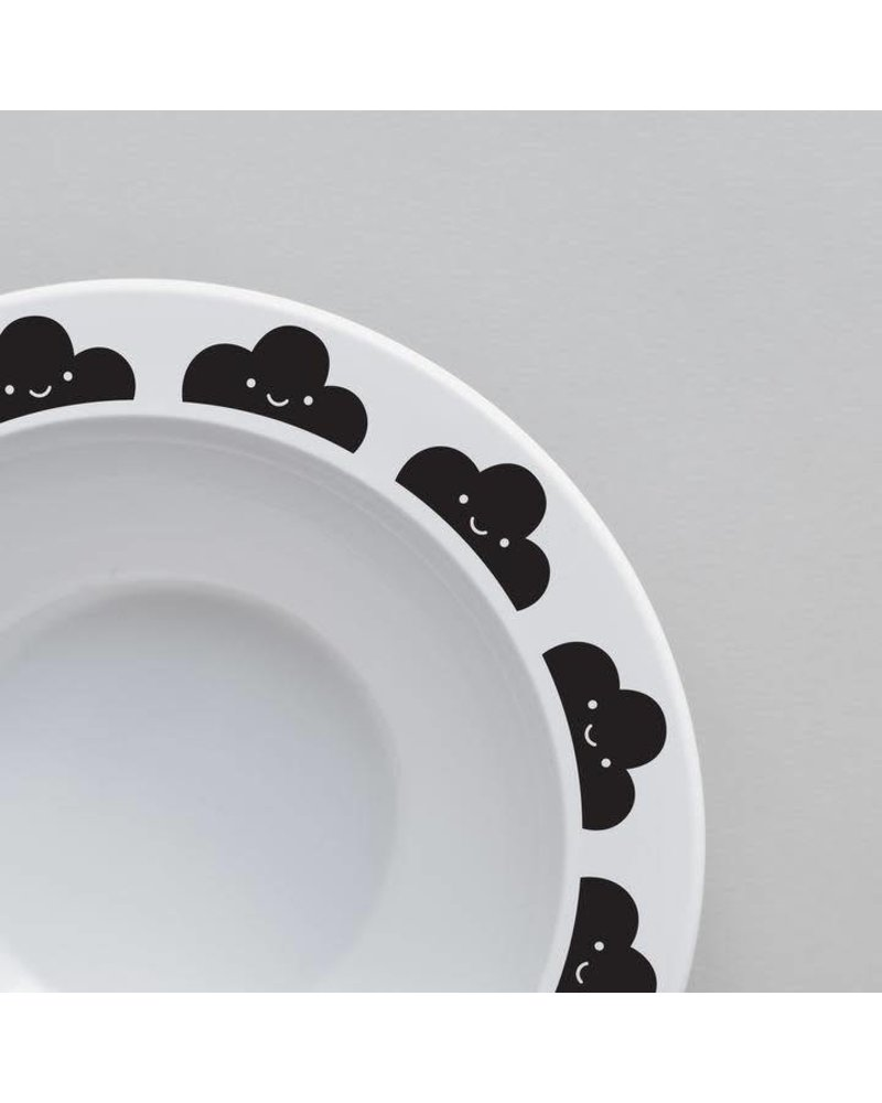 Buddy and Bear Happy Clouds Bowl (Black)