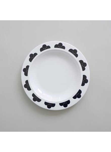 Buddy and Bear Happy Clouds Plate (Black)