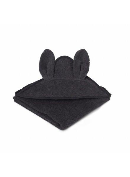 Liewood Augusta Towel Rabbit Dark grey