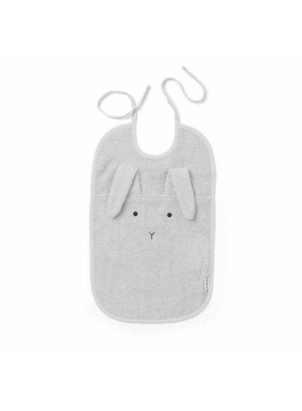 Liewood Theo terry bib rabbit Dumbo grey