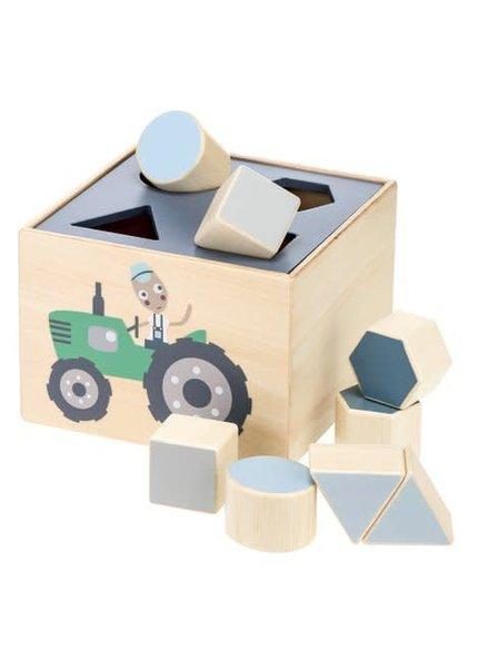 Sebra Houten shape sorter farm
