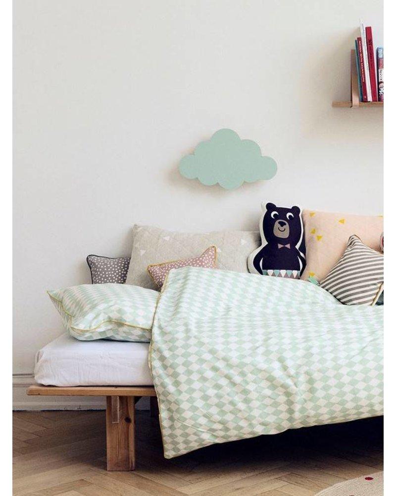 Ferm Living Overtrek en sloop Harlequin Mint - 140 x 200 cm