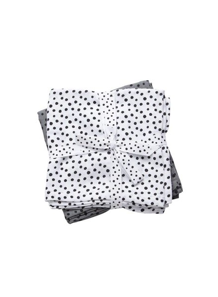 Done by Deer Swaddle, 2-pack, Happy dots, grey