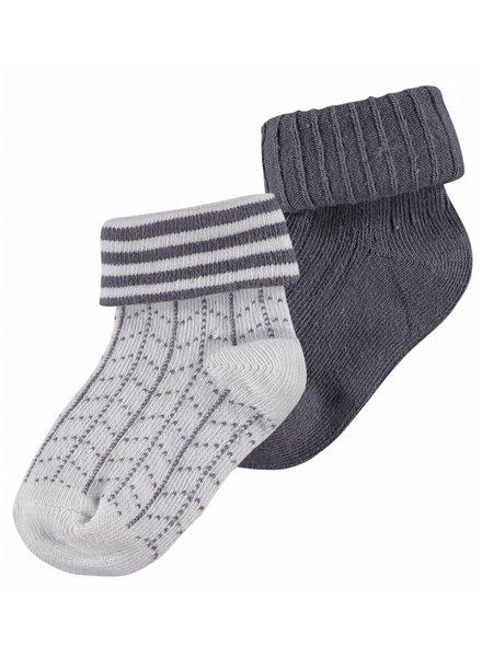 Noppies 2 paar sokken - Kasel - grijs