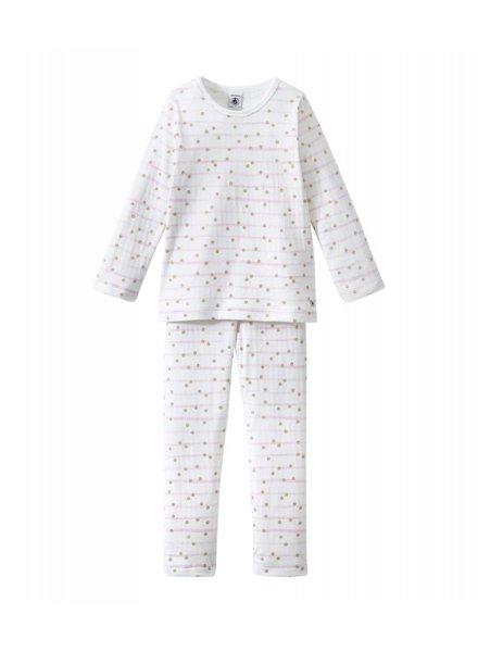 Petit Bateau Pyjama - dots ecume/or