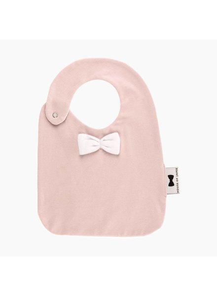 House of Jamie Bow tie bib - Powder Pink
