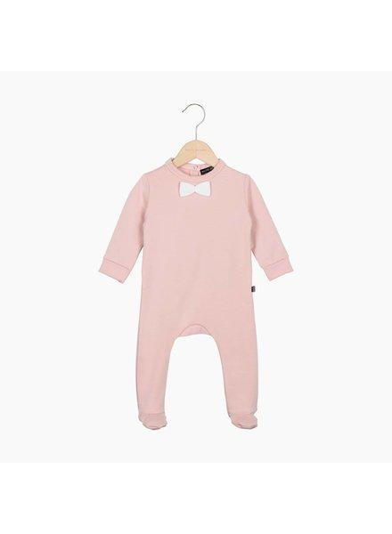 Bow Tie babysuit - Powder Pink (62/68)