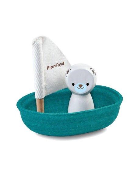 Plan Toys Zeilboot ijsbeer