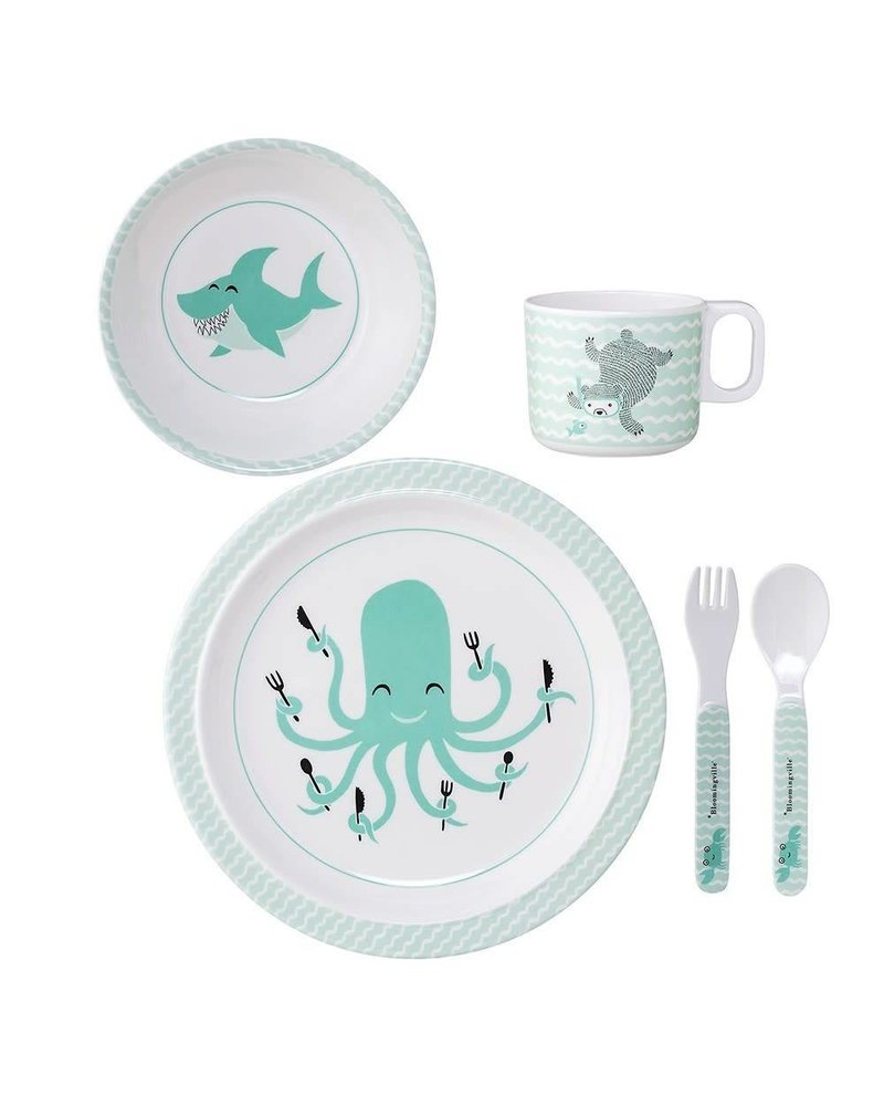 Bloomingville Serving Set Green