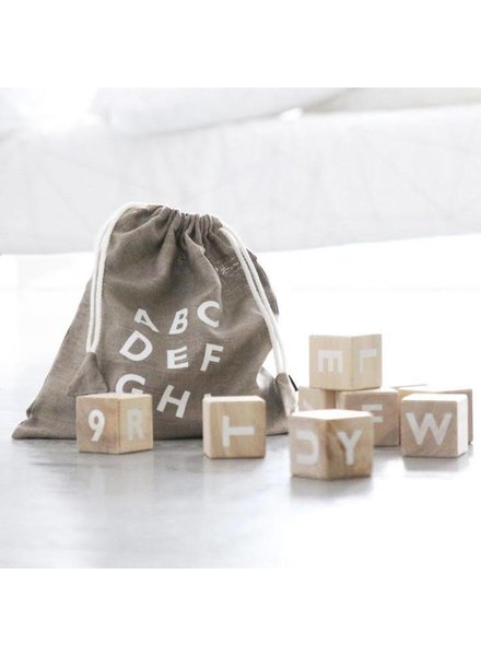 Oohnoo Alphabet Blocks - White