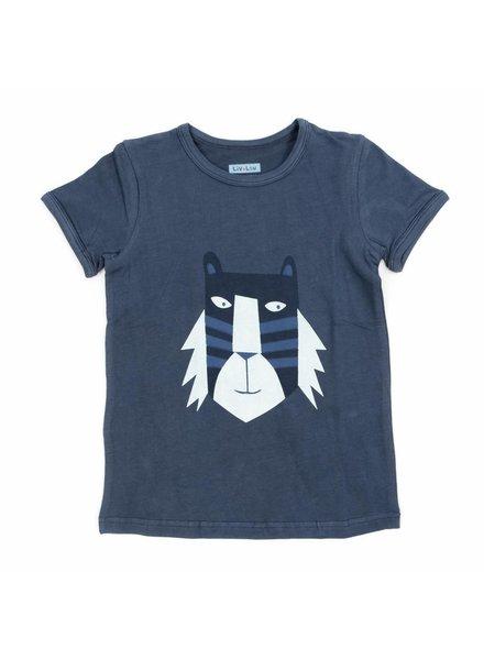 Liv + Lou T-shirt Otto solid -  Bering Sea Tiger