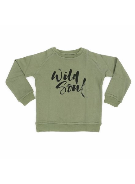 Liv + Lou Sweater Odilon solid - Olivine Wild Soul
