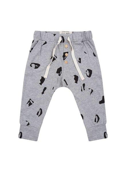 Little Indians Pants Animal - Grey Melange