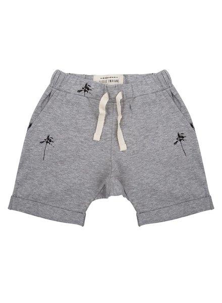 Little Indians Shorts Palmtrees - Grey Melange
