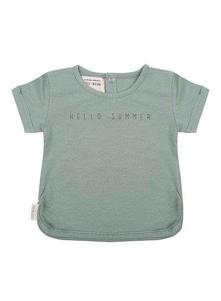Little Indians T-shirt Hello Summer - Soft Green