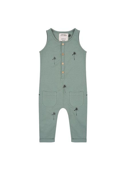 Little Indians Jumpsuit Palm Trees - Soft Green