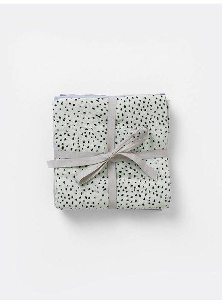 Ferm Living Muslin Diapers - Mint Dot (set of 3)
