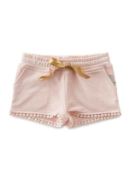 Little Label fancy sweat shorts girls  -  cotton candy pink