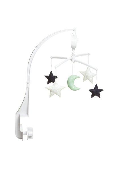 Pouce et Lina Mobiel - Lune étoile mint/marine - Melodie: La belle et la bête