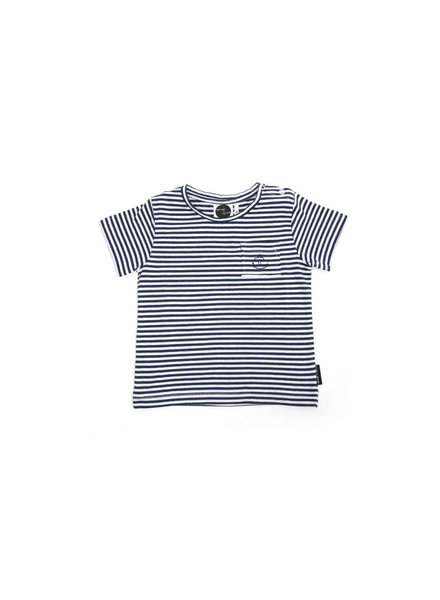 Sproet & Sprout T-shirt K/M Anchor Navy Stripe